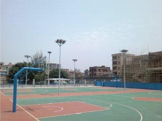 安徽合肥一蓝球场使用奇亚QYTG168泛光灯具